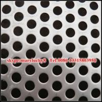 China stainless steel perforated metal sheet/Round Hole punching metal sheet/SS perforated sheet on sale