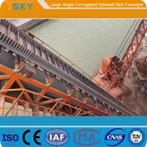 China B300 80mm Sidewall 2.0m/s Rubber Belt Conveyor wholesale