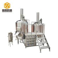 China Multifunctional 500L Beer Brewing Equipment Brewhouse Combanation With 8 Fermentation Tanks wholesale