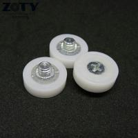 China DR19C1L3 Plastic POM DR19 drawer file cabinet roller M6x19x6mm Short Rollers DR-19 wholesale