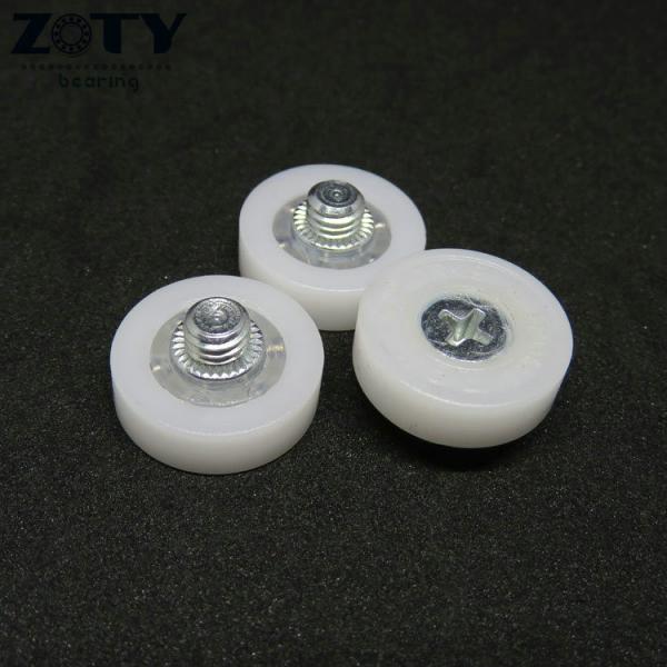 Quality DR19C1L3 Plastic POM DR19 drawer file cabinet roller M6x19x6mm Short Rollers DR-19 for sale