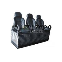 China Luxury black 3 seats / set Movie Theater Chairs By pneumatic / hydraulic Control wholesale