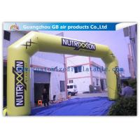 China Outdoor Advertising Custom Inflatable Arch 0.45mm Pvc Tarpaulin , 8mL * 5mH wholesale