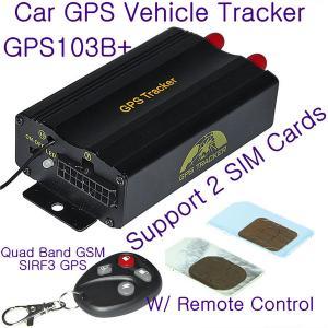China GPS103B+ Remote Control Car GPS Vehicle Tracker W/ 2 SIM Slot & Central Locking Detection wholesale