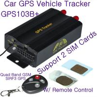 China GPS103B+ Remote Control Car GPS Vehicle Tracker W/ 2 SIM Slot & Central Locking Detection wholesale
