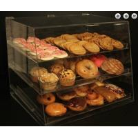 China Clear Acrylic Pastry Display Case With 3 Trays For Bread Donut wholesale