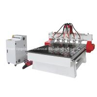China 6 Spindle Heads Wood Relief CNC Router with 1300*1800mm Working Area Servo Motor wholesale