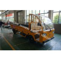China 3 Tons Load Electric Cargo Truck Yellow 2160mm Wheel Base With Fence wholesale