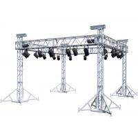 China Durable Box Aluminum Stage Truss Screw / Bolt Connection Way Silvery Color wholesale