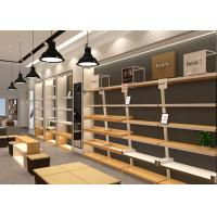 China Wooden Plus Veneer Shoe Display Fixtures Design With Dis - Assembly Structures wholesale
