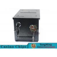 China Double - Lock Design Casino Cash Box With Thicker Metal Iron For Coins / Chips wholesale