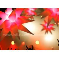 China 1.5m Star Shaped Inflatable Lighting Balloon For Ceiling Hanging Decoration wholesale