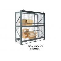 China Durable Welded Wire Pallet Rack Security Enclosure Kits 96 *36 *96 Inch wholesale