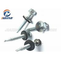 Quality Zinc Plated C1022A Self Drilling Screws Color Painted Hex Head With EPDM Washer for sale