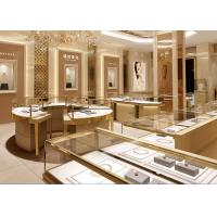 China Fully - Assembled Gold Metal Showroom Display Cases Customized 3D Design wholesale