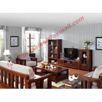 China High Quality Solid Wooden Frame with Upholstery Sofa Set wholesale
