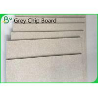 China Waterproof Recycled Pulp Grey Chipboard 19 Inch / 72 Inch 1.0mm / 1.5mm on sale