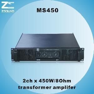 China MS450 2CH X 600W/8ohm Professional Amplifier wholesale