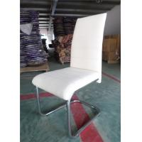 China Classic High Back Leather Dining Chairs , Traditional Dining Chairs Black Color wholesale