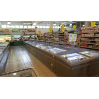Quality 2.1M White Island Freezer Meat Counter Display Freezer for Supermarket for sale
