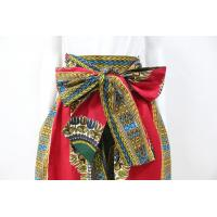 China Dashiki Style Womens African Print Skirts With Two Side Pockets Zipper Back wholesale