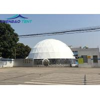 China 20m Big Geodesic Dome Tent Factory Half Sphere Event Tent For Outdoor Parties wholesale