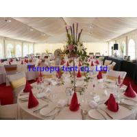 China Aluminum Luxury Wedding Marquee Tent With Lining Curtain And Light Decorating wholesale