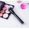China Wood Handle Cosmetics Blush Brush Synthetic Hair Handle Material wholesale