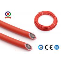 China XLPE Jacket 12AWG Solar PV Cable Wire Copper Conductor Red / Black Color on sale