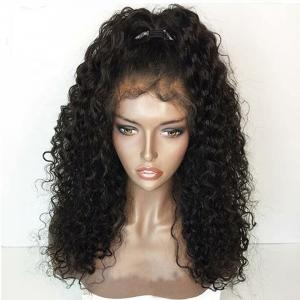 China Human Hair Curly Lace Front Wigs Human Hair Blend Lace Front Wigs wholesale