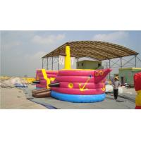 China Comfy Pirate Ship Kids Jumping Castle Slide Combo 5-15 Minutes Inflate Time wholesale