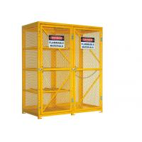 China 6 Feet Two Door Outdoor Propane Storage Cage , Gas Cylinder Storage Box Anticorrosive wholesale