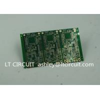 China 6 Layer Green Printed Circuit Board FR4 with V Groove White Silkscreen wholesale
