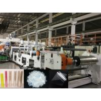 China Twin Screw PET Sheet Extrusion Machine, Using Bottle Regrind Flakes As Raw Material, Dryer free on sale