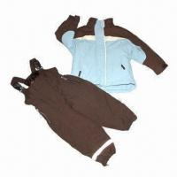 Quality Children's suit/skiwear, made of polyester fabric, waterproof and breathability for sale