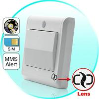 Quality HD Spy Camera Light Switch with GSM Remote Control (Motion Detection, GSM MMS for sale