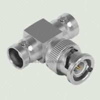 China RF Coaxial BNC Connector with BNC F Jack to BNC M Plug to BNC F Jack T-angle Adapter 75Ω wholesale