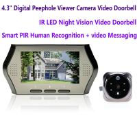 """Quality 4.3"""" LCD Electronic Door Peephole Viewer Camera Home Security DVR Night Vision Video Doorbell Door Phone Access Control for sale"""
