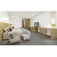 Buy cheap Modern Light Color Simple Style Hotel Bedroom Furniture 1.2m Twin Bed Room from wholesalers