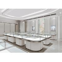 China Jewelry Cases For Stores - Fashion Modern Matte White Glass Jewelry Showcase wholesale