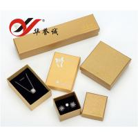 Handmade Yellow Paper Jewelry Boxes Set For Bangle / Ring / Pendant Storage