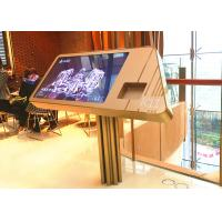 China Supermarket Digital Information Kiosk / 42 Inch Touch Screen Display With Barcode Scanner wholesale