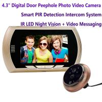 "China 4.3"" Digital Door Peephole Viewer Photo Video Camera Recorder Home Security Smart PIR Video Doorbell IR LED Night Vision wholesale"