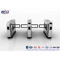 Quality High Speed Glass Swing Barrier Gate Retractable With UHF RFID Reader for sale