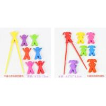 China cartoon design silicone chopsticks fashion kids children chopstick wholesale