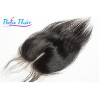 China Swiss Brazilian Grade 6A Remy Straight Hair Closure With 130% Density wholesale