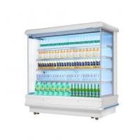 China 12ft Long Grocery Store Multideck Open Chiller LED Lighting Multideck Display Fridge wholesale