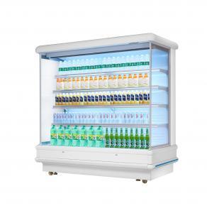 Quality 12ft Long Grocery Store Multideck Open Chiller LED Lighting Multideck Display for sale