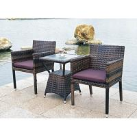 China Bistro outdoor furniture wicker table and chair wholesale