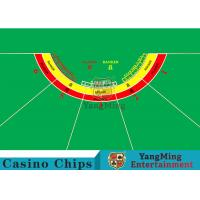 China Waterproof Half Round Casino Table Layout With Specialized Patterns / Colors wholesale